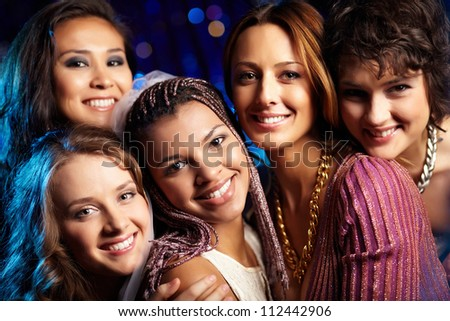 Female friends having fun and enjoying themselves at a bridal party