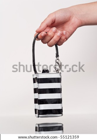 Female Hand Holding a Coin Bag