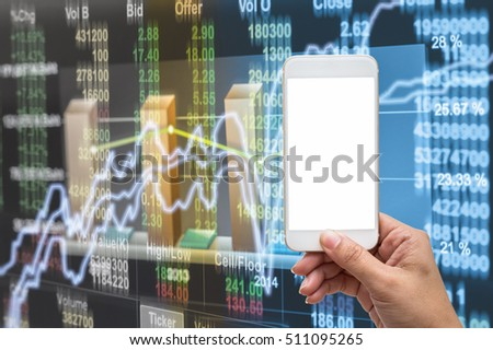 Touching Stock Market Graph On A Touch Screen Tablet
