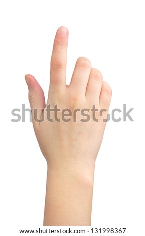female hand on the isolated background