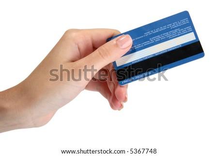 Female hand with a credit card