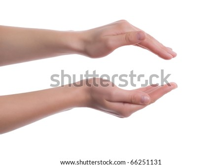 Female hands as if holding something
