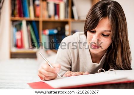 female high school student...