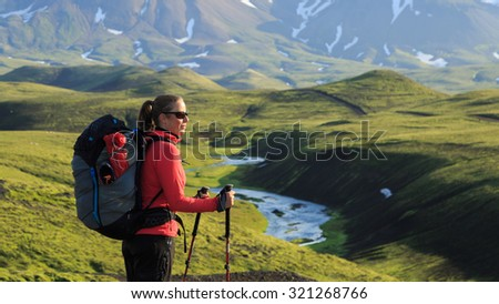 female hiker enjoying the...