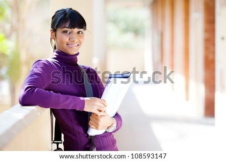 female indian college student portrait