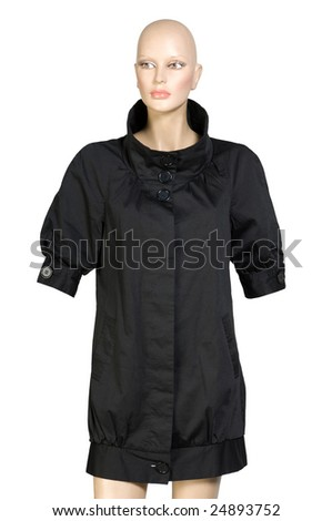 Female jacket on a dummy isolated on a background - stock photo