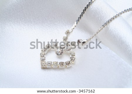 Female jeweller ornaments on a background