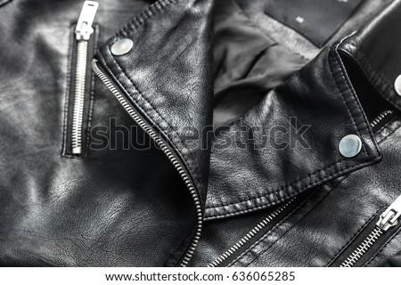 Female leather jacket #636065285