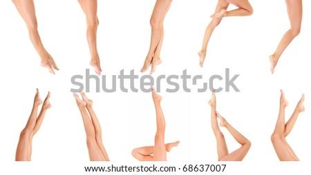 Female Legs Isolated