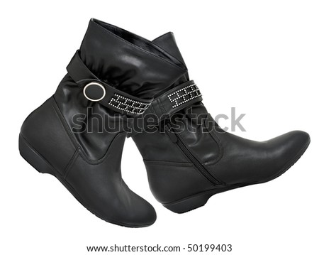 Black Buckle Strap High Leg Boots | New Look