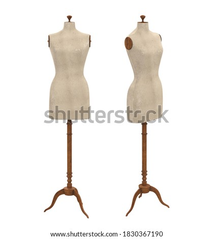 Female Mannequin Torso Isolated. 3D rendering Stock photo ©