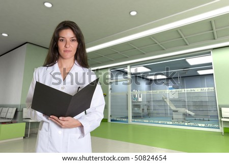 Female medical professional in a modern clinic