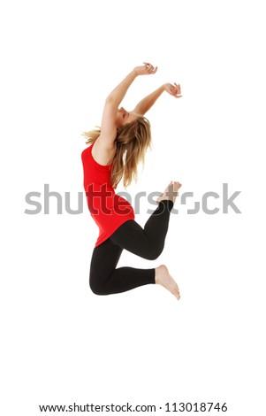Female modern dancer, isolated on white