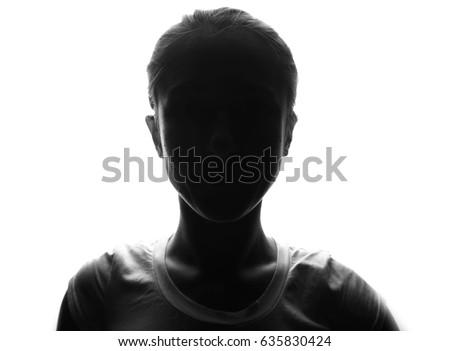 Female person silhouette  #635830424