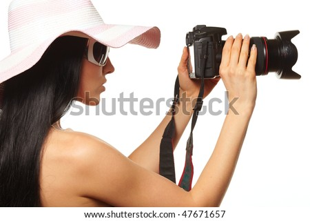 Female Photographer Shooting You