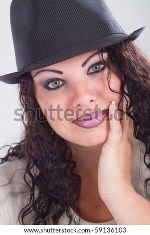 female plus size model