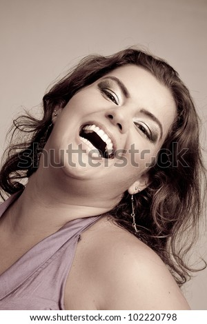 stock-photo-female-plus-size-model-posing-in-the-studio-duotone-face