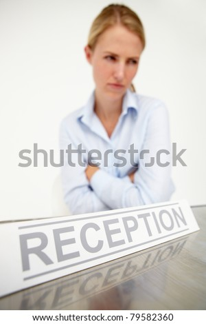 Female receptionist