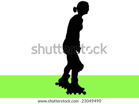 female rollerblading