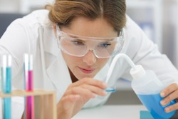 female scientist woman in the lab