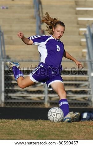 Female Soccer Player - stock photo