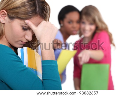 Female student being bullied