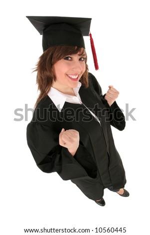 Female student graduating