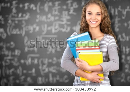 Female Student, Mobile Phone, Teenager.