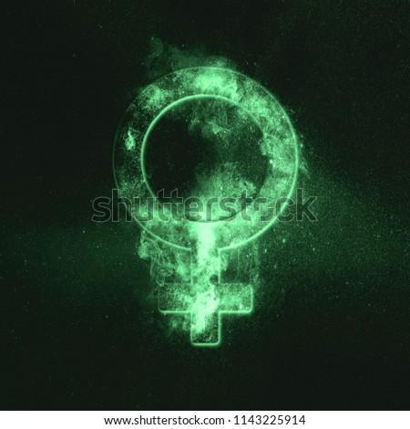 Female symbol. Green symbol #1143225914