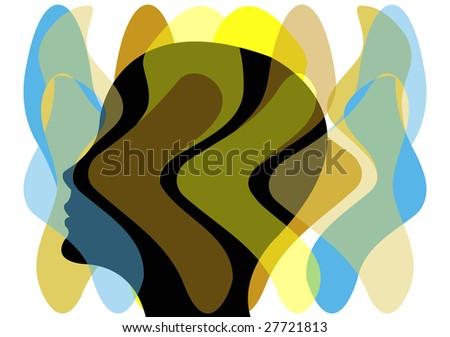 female thinking about life