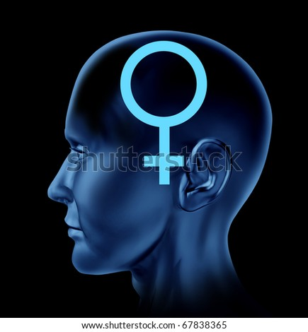 female woman symbol head Brain mind idea intelligence