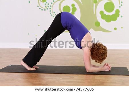 Female Yoga student