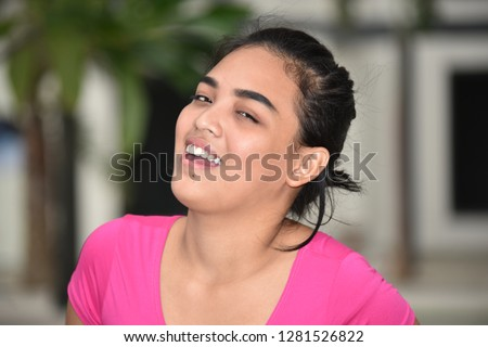 Female Youngster And Laughter #1281526822