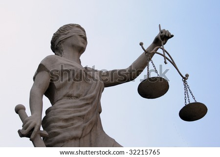 Femida sculpture simbol of justis
