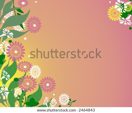 feminine floral background design