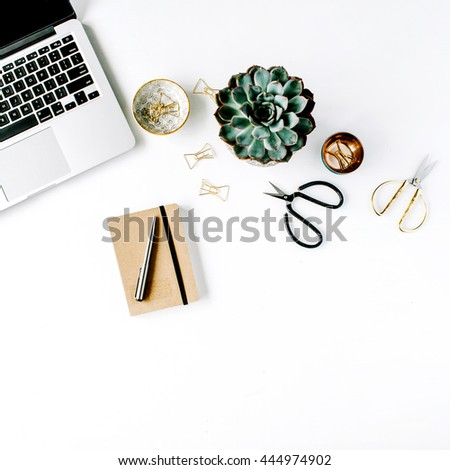 feminini desk workspace with...