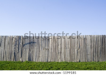 Fence and Clear Blue Sky