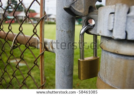 fence , lock facility background