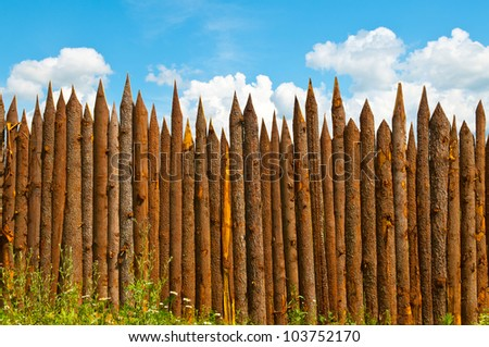 fence made of wood