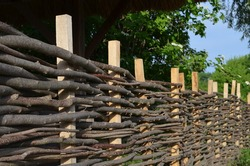 fence of twigs
