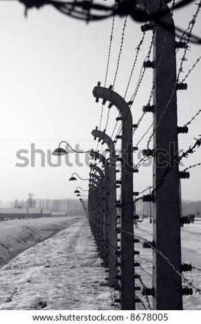 Fence surrounding Auschwitz / Birkenau camp