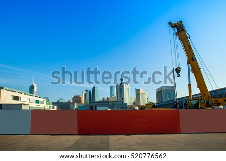 Fences and construction sites, Stock foto ©