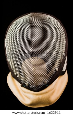 Fencing Mask - Isolated on Black