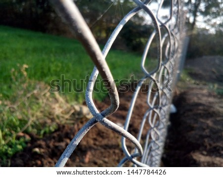 Fencing with perfect blur and it is perfect for background.