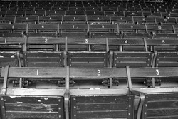 Fenway Old Seats in Black & White