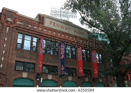 Fenway Park along Yawkey Way, Boston.