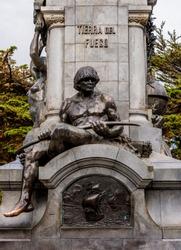 Ferdinand Magellan Memorial, detailed view, Benjamin Munoz Gomero Main Square, Punta Arenas, Magallanes Province, Patagonia, Chile