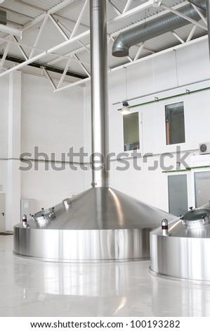 Fermentation vats on brewery