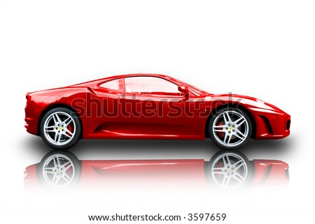 Ferrari F430 profile racer - stock photo