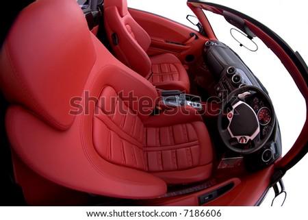 ferrari f430 spider interior fisheye